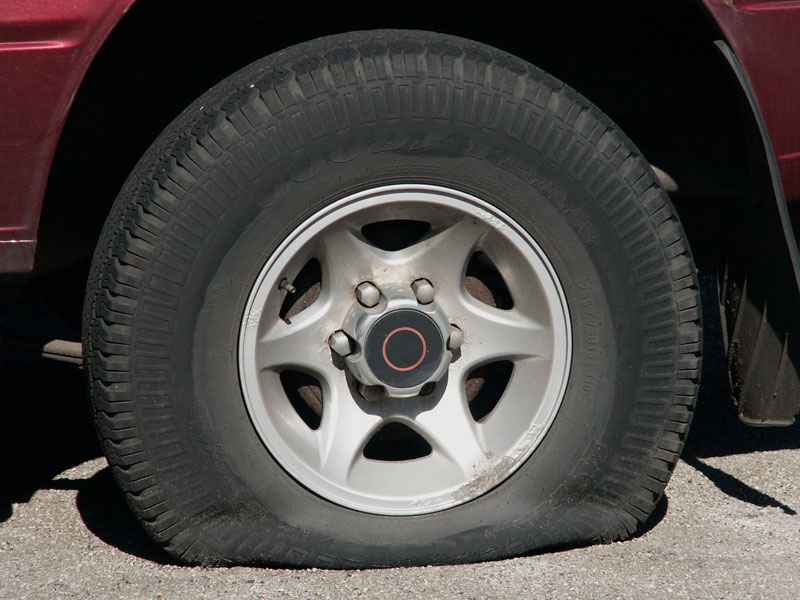 Safely Handle a Tire Blowout