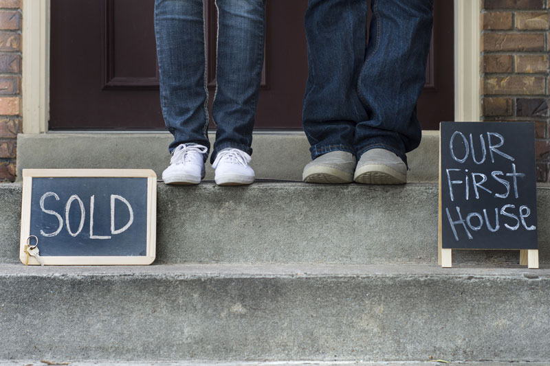 a couple who have bought their first house