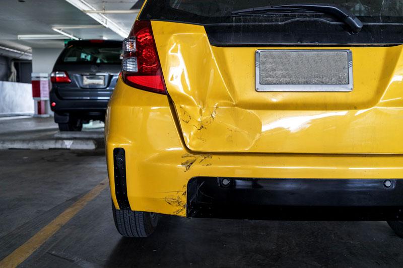 parked car hit